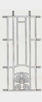 SA6 (1002mm x 385mm) Hinged Aluminium Decorative Door